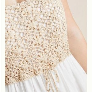 Anthropologie Dresses - Anthropologie Beckett Crochet Eyelet Dress